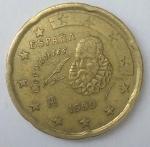 monedas de Europa - España -  1999 - 20 centavos euro