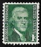 Sellos de America - Estados Unidos -  Thomas Jefferson