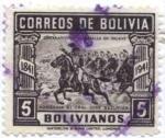 Stamps of the world : Bolivia :  Centenario de la Batalla de ingavi