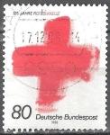 Sellos del Mundo : Europa : Alemania : 125 años de la Cruz Roja.
