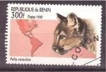 Stamps Benin -  serie- felinos en el Múndo