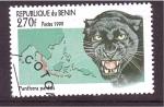 Sellos de Africa - Benin -  serie- Felinos en el Mundo