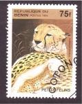 Stamps Benin -  serie- cachorros felinos