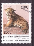 Stamps Cambodia -  serie- tigres