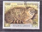 Stamps Cambodia -  serie- gatos salvajes