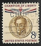Stamps United States -  champion of liberty -Baron Gustaf Mannerheim
