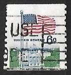 Stamps United States -  Bandera sobre la Casa Blanca
