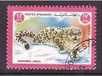 Sellos del Mundo : Asia : Afganistán : Leopardo de las nieves
