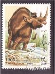 Sellos del Mundo : Asia : Afganistán : Rinoceronte prehistórico