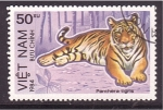 Stamps Vietnam -  serie- Felinos