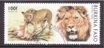 Sellos de Africa - Burkina Faso -  serie- felinos