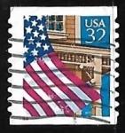 Stamps United States -  Bandera sobre el campo