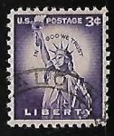 Sellos de America - Estados Unidos -  Estatua de la libertad