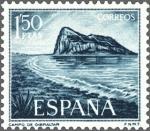 Stamps : Europe : Spain :  ESPAÑA 1969 1933 Sello Nuevo Pro Trabajadores de Gibraltar  Vistas del Peñon