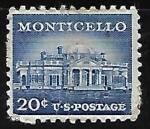 Sellos de America - Estados Unidos -  Monticello