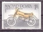 Sellos de Europa - Hungría -  serie- Historia de la motocicleta