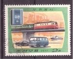 Sellos de Asia - Corea del norte -  vías de transporte