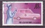 Sellos de Asia - Corea del norte -  servicios de emergencia y seguridad
