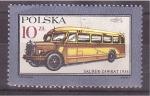 Sellos de Europa - Polonia -  autocar saurer