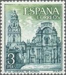 Sellos de Europa - España -  ESPAÑA 1969 1936 Sello Nuevo Serie Turistica Catedral de Murcia