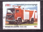Stamps Cambodia -  serie- autobombas