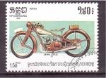 sellos de Asia - Camboya -  serie- motocicletas
