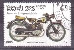 Stamps Laos -  serie- motocicletas