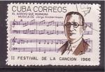 Sellos de America - Cuba -  II fest. canción