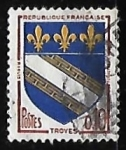 Stamps France -  Escudo de armas - Troyes