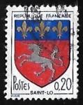 Sellos de Europa - Francia -  Escudo de armas - Saint-Lô