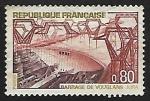 Stamps France -  Le Barrage de Vouglans