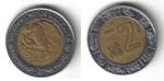 monedas de America - México -  2 Pesos