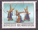 Sellos de Asia - Mongolia -  Baile típico