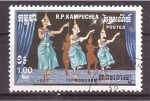 Stamps Cambodia -  baile típico