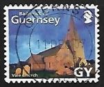 Stamps : Europe : United_Kingdom :  Guernsey - Iglesia Parroquial de S. Michel du Valle