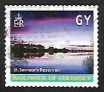 Stamps United Kingdom -  Guernsey - St. Saviours reservoir
