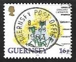 Stamps United Kingdom -  guernsey - Clavel estandart