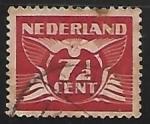 Stamps Netherlands -  Animal estilizado - paloma volando