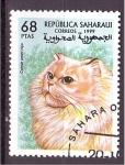 Stamps Spain -  serie- gatos