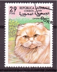 Sellos de Europa - España -  serie- gatos