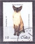 Stamps Cuba -  serie- gatos asiáticos