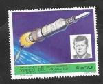 Stamps : America : Paraguay :  Apolo VII, Lanzado de Cabo Kennedy