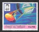 Stamps : America : Paraguay :  Apolo VIII, Lanzado de Cabo Kennedy