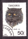 Sellos de Africa - Tanzania -  serie- Gatos
