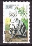 Stamps Benin -  serie- gatos