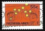 Sellos de Europa - Holanda -  Niños y estrellas