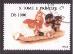 Stamps São Tomé and Príncipe -  serie- Anim. domésticos