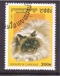 Sellos de Asia - Camboya -  serie- Gatos