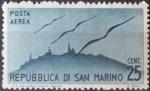 Stamps Europe - San Marino -  Aviones sobrevolando San Marino. 1946/47