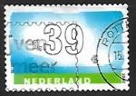 Sellos de Europa - Holanda -  Nubes y numeros
